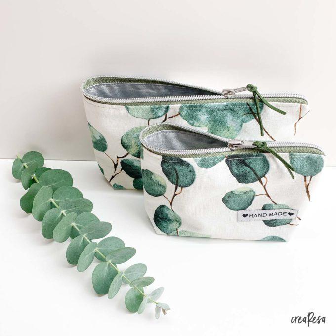 Nähpaket Kosmetiktasche Eukalyptus weiß