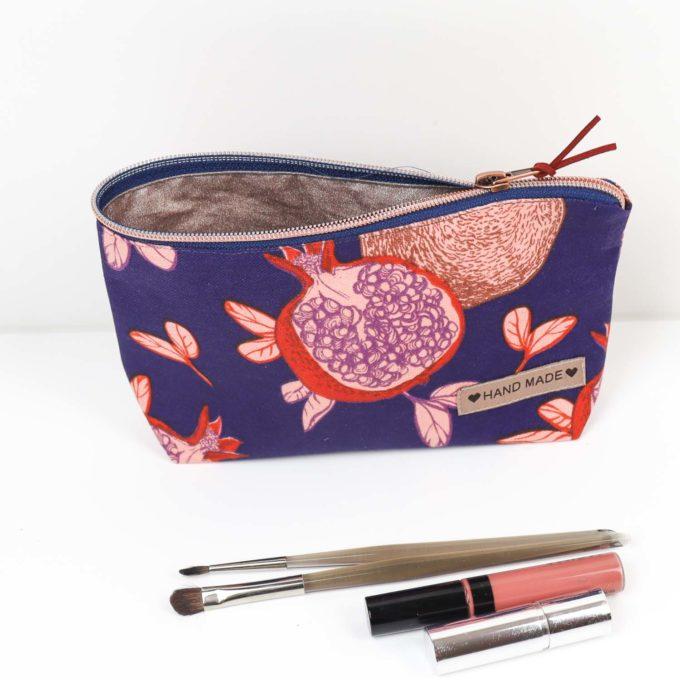 Nähpaket Kosmetiktasche Granatapfel