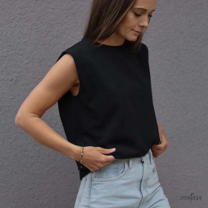 Shirt Sonni mit Schulterpolster