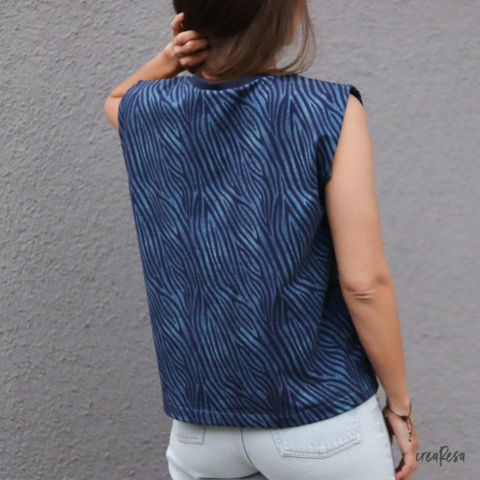 Shirt Sonni mit Schulterpolster - Rückenansicht