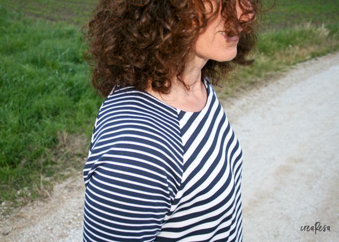 Ringelshirt aus Ponte-Roma-Jersey
