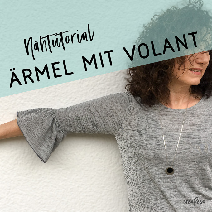 Ärmel mit Volant nähen - crearesa.de
