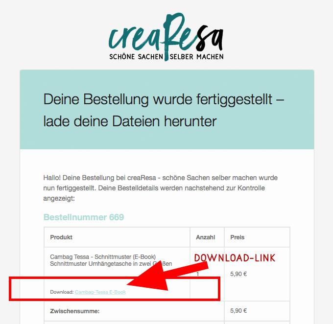 Schnittmuster E Book ausdrucken und kleben   crearesa.de