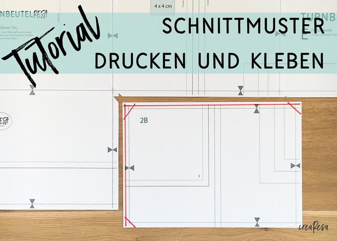 Schnittmuster E-Book ausdrucken und kleben - crearesa.de