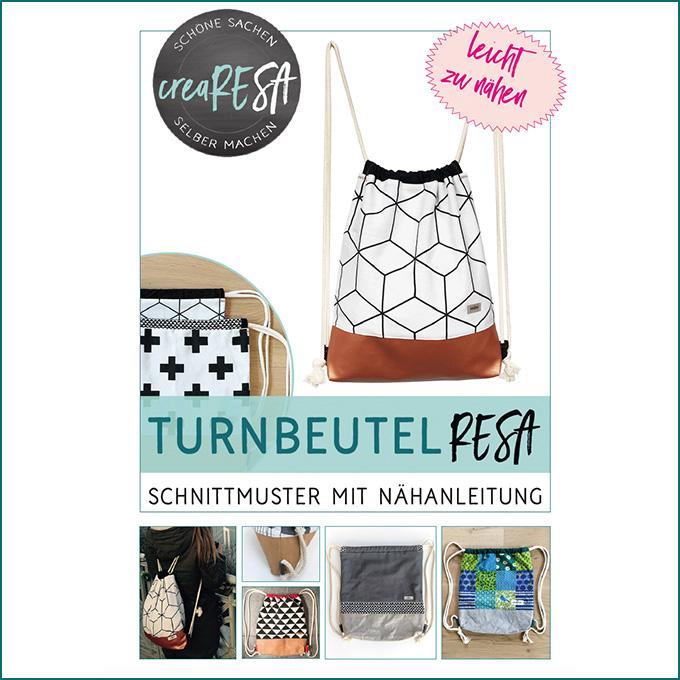 Turnbeutel nähen – kostenloses Schnittmuster - crearesa.de