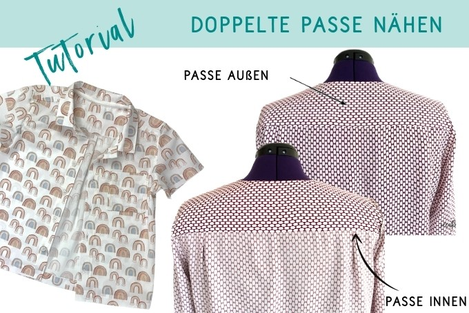 Doppelte Passe bei Bluse oder Hemd nähen – Nähanleitung
