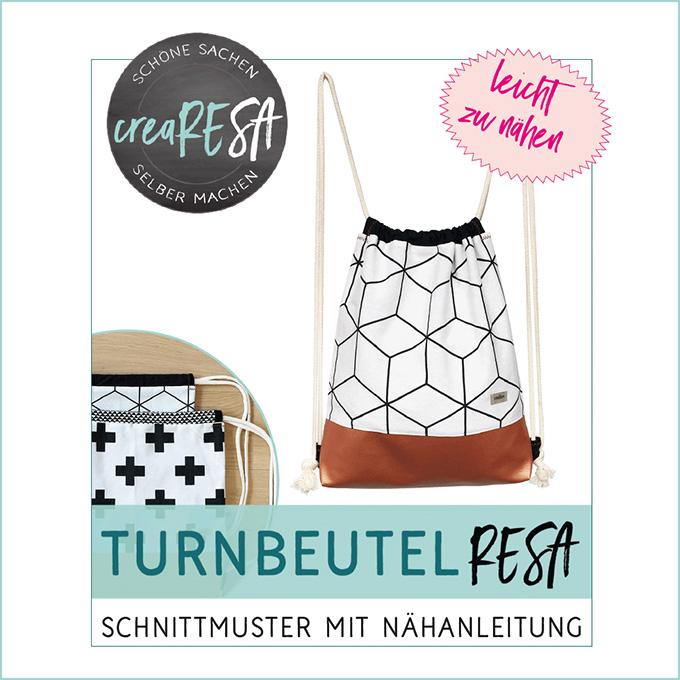 Turnbeutel Resa – Schnittmuster im Shop - crearesa.de