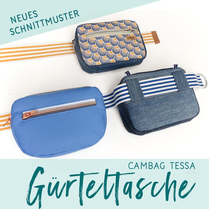 Cambag Tessa Gürteltasche – Schnittmuster - crearesa.de