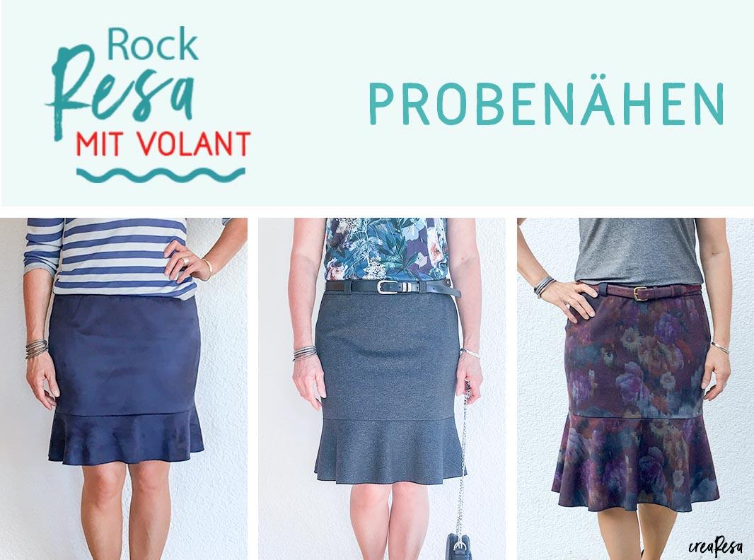 Rock Resa mit Volant – Probenähen
