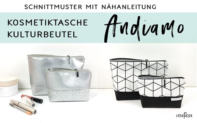 Kosmetiktasche / Kulturbeutel  AndiamoBag – neues Schnittmuster