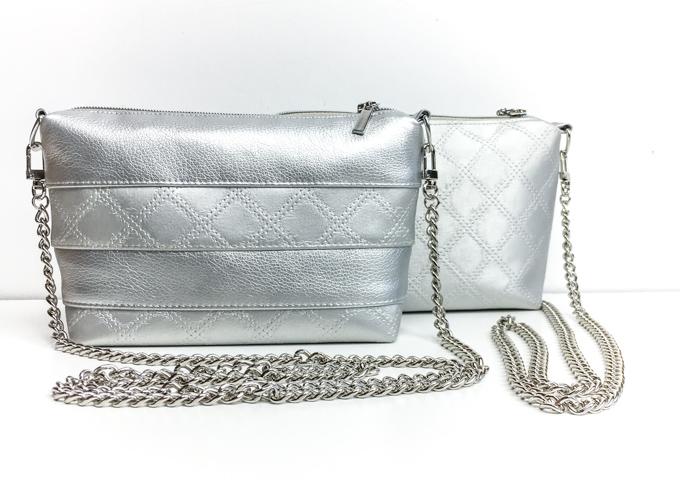 Mini-Schultertasche mit Taschenkette