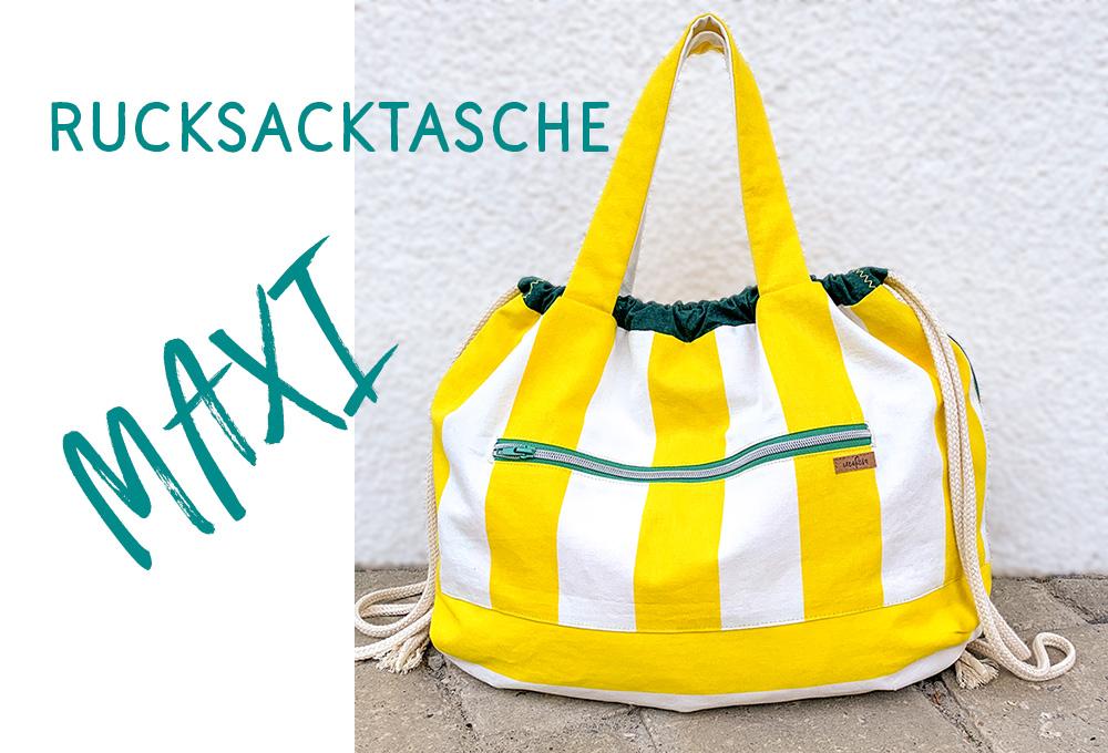 Rucksacktasche Maxi – neues Schnittmuster
