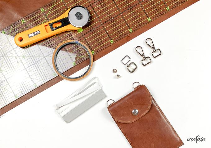 Material für einen verstellbaren Taschngurt aus Leder
