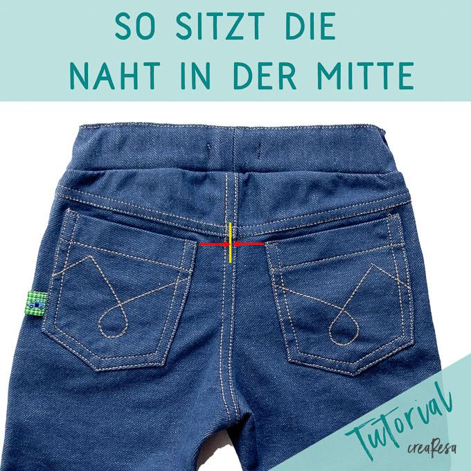 Mittelnaht bei Jeans - Tutorial