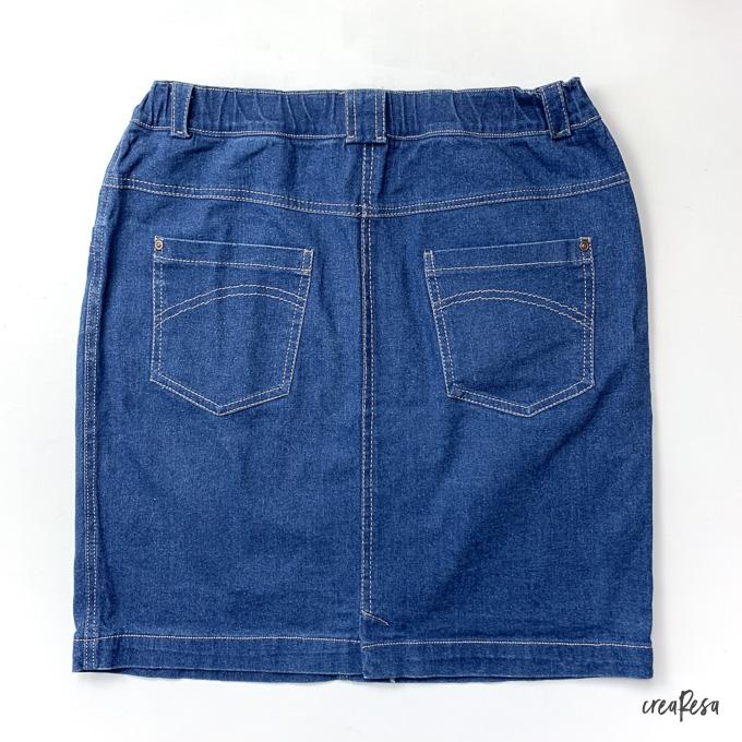 Jeans Rock genäht