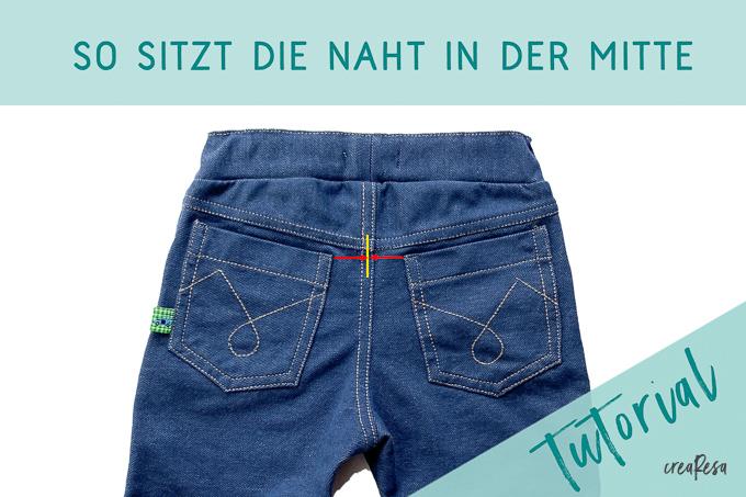 Jeans wie ein Profi nähen – die Mittelnaht