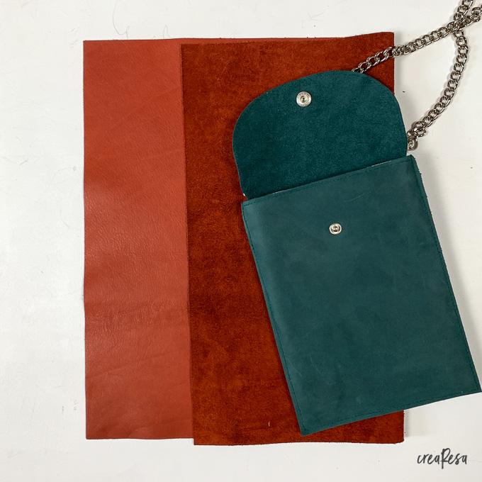 Zwei Lederqualitäten: Vintage Leder und Leder Glatt