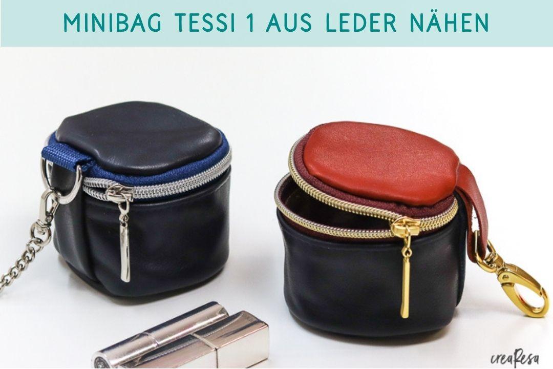 Minibag Tessi 1 aus Leder nähen