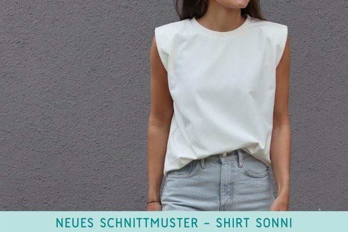 Shirt mit Schulterpolstern nähen