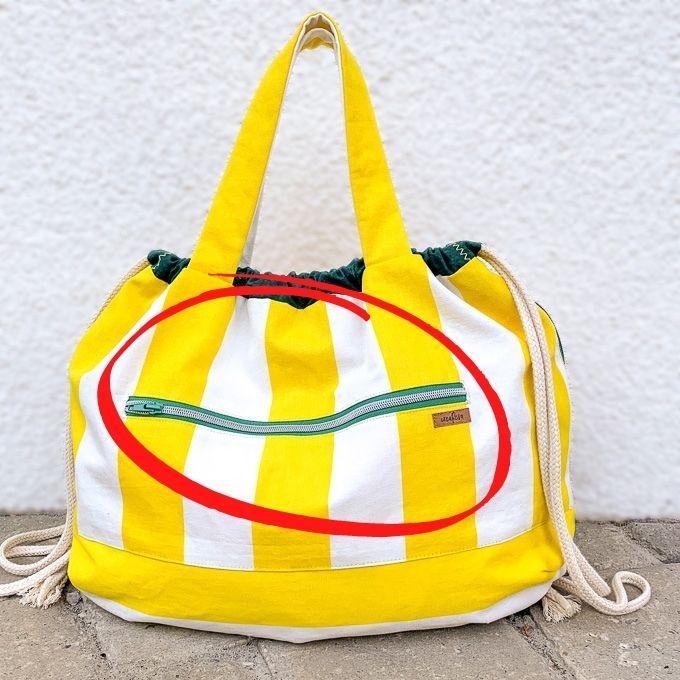 Reißverschluss-Außentasche