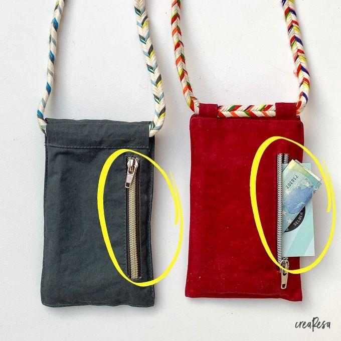 Außentasche an der Handytasche